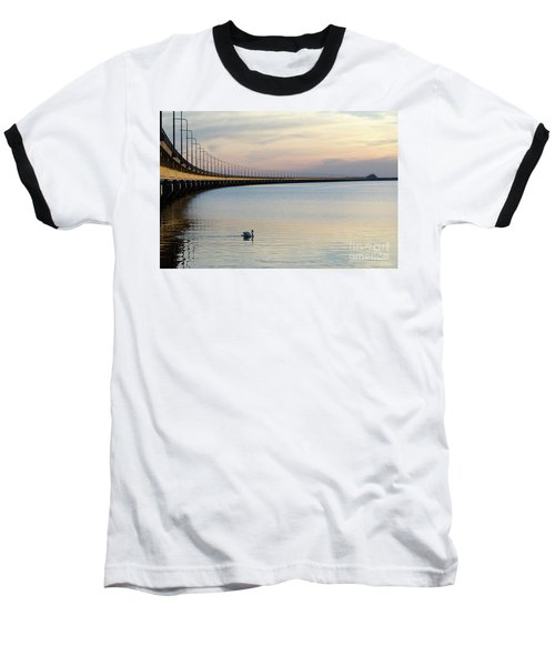 Calm Evening By The Bridge Baseball T-Shirt