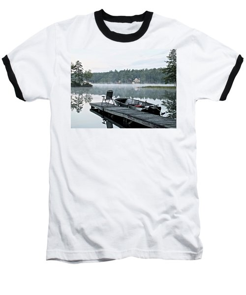 Calm Morning On Little Sebago Lake Baseball T-Shirt
