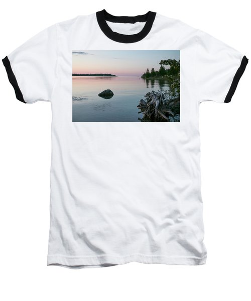 Calm Water At Lake Huron Crystal Point Baseball T-Shirt by Kelly Hazel