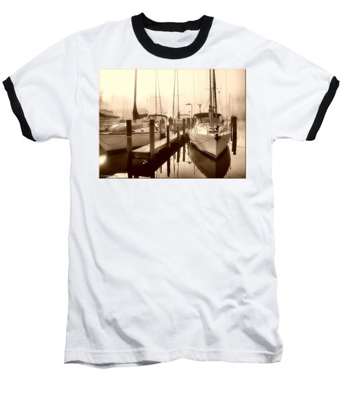 Baseball T-Shirt featuring the photograph Calmly Docked by Brian Wallace