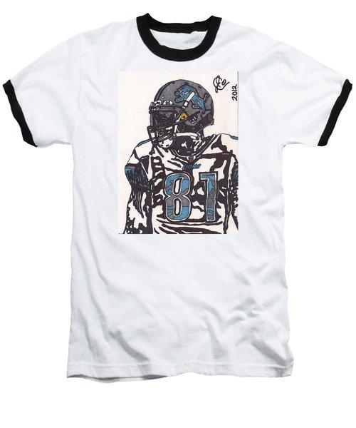 Calvin Johnson Jr 3 Baseball T-Shirt by Jeremiah Colley