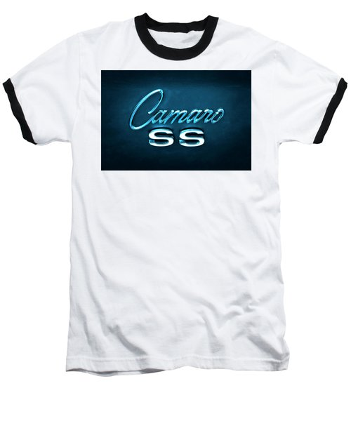 Baseball T-Shirt featuring the photograph Camaro S S Emblem by Mike McGlothlen