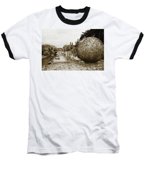 Cambridge Punting Sepia Baseball T-Shirt by Eden Baed
