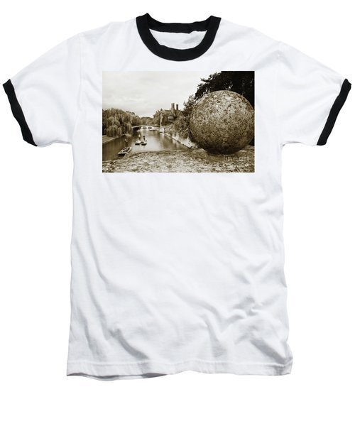 Cambridge Punting Sepia Baseball T-Shirt