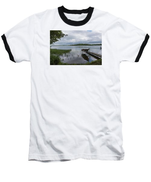 Camelot Island From Wilderness Point Baseball T-Shirt by Gary Eason