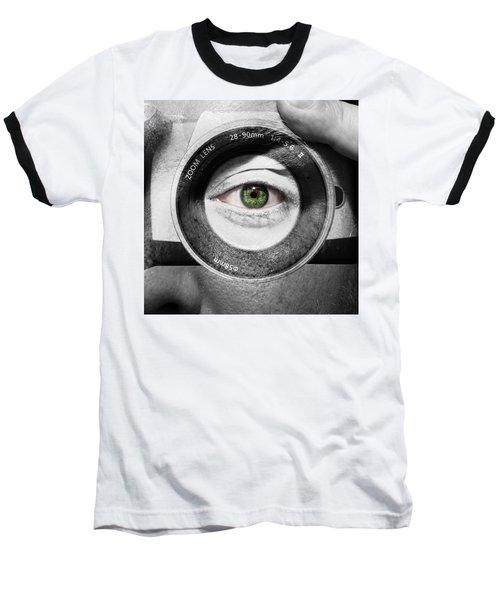 Camera Face Baseball T-Shirt by Semmick Photo