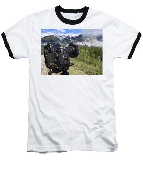 Camera Mountain Baseball T-Shirt