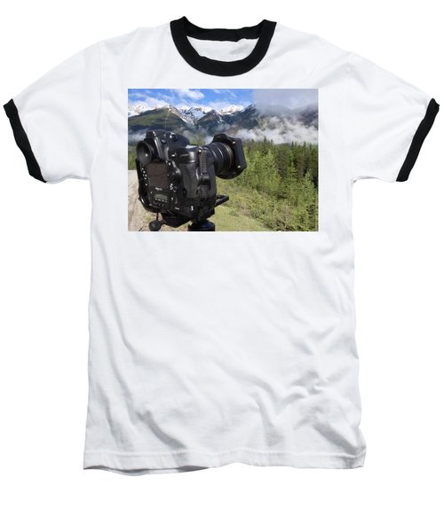 Camera Mountain Baseball T-Shirt