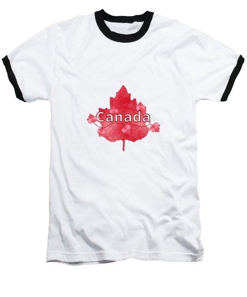 Canada Proud Baseball T-Shirt by Kathleen Sartoris