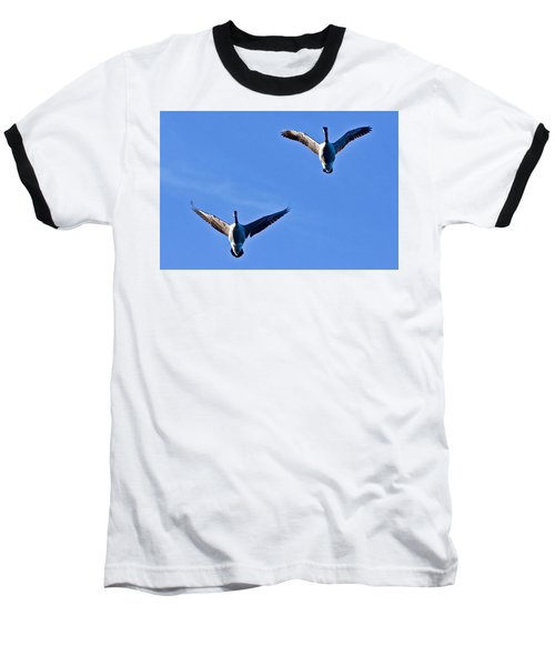 Baseball T-Shirt featuring the photograph Canadian Geese 1644 by Michael Peychich
