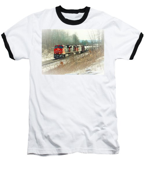 Canadian National Railway Vignette Baseball T-Shirt