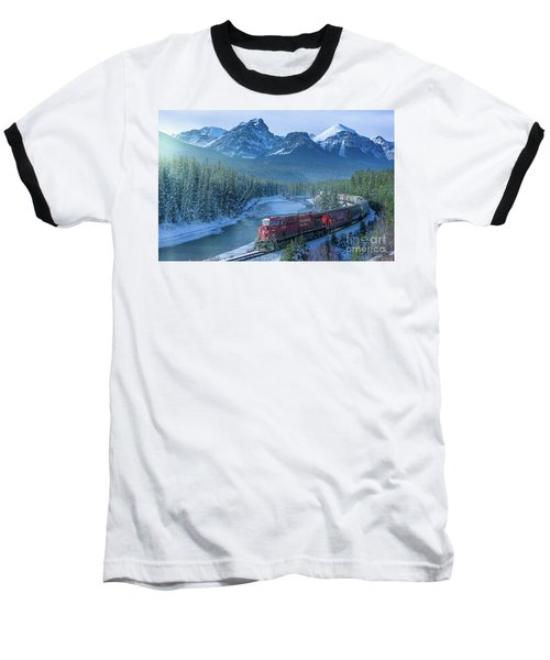 Canadian Pacific Railway Through The Rocky Mountains Baseball T-Shirt