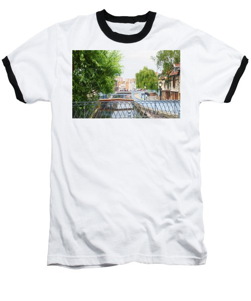 Baseball T-Shirt featuring the photograph Canal View In Amiens by Therese Alcorn