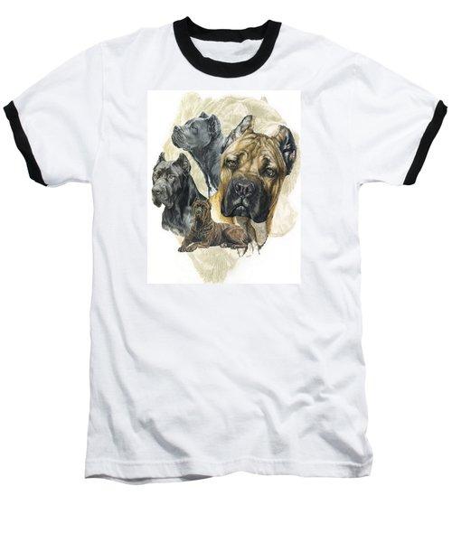 Cane Corso W/ghost Baseball T-Shirt by Barbara Keith
