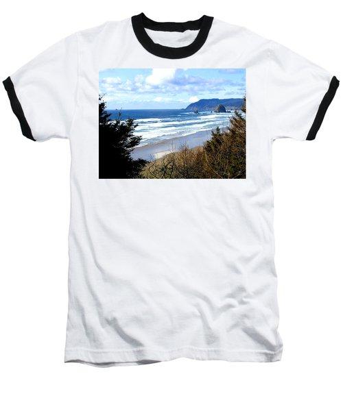 Cannon Beach Vista Baseball T-Shirt by Will Borden