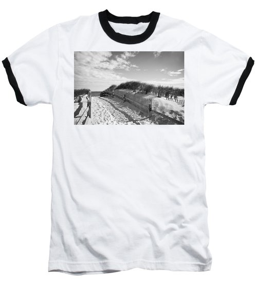 Cape Cod Beach Entry Baseball T-Shirt
