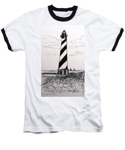 Cape Hatteras Lighthouse Nc Baseball T-Shirt by Julie Brugh Riffey