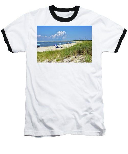 Baseball T-Shirt featuring the photograph Cape Henlopen State Park - Beach Time by Brendan Reals