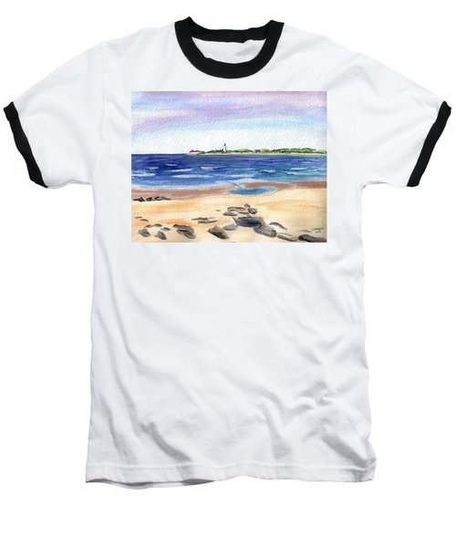 Cape May Beach Baseball T-Shirt by Clara Sue Beym