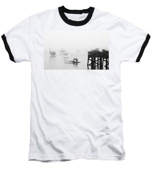 Cape Porpoise Lobster Boats In Fog Baseball T-Shirt