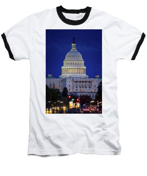 Capitol At Dusk Baseball T-Shirt