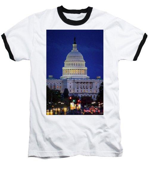 Capitol At Dusk Baseball T-Shirt