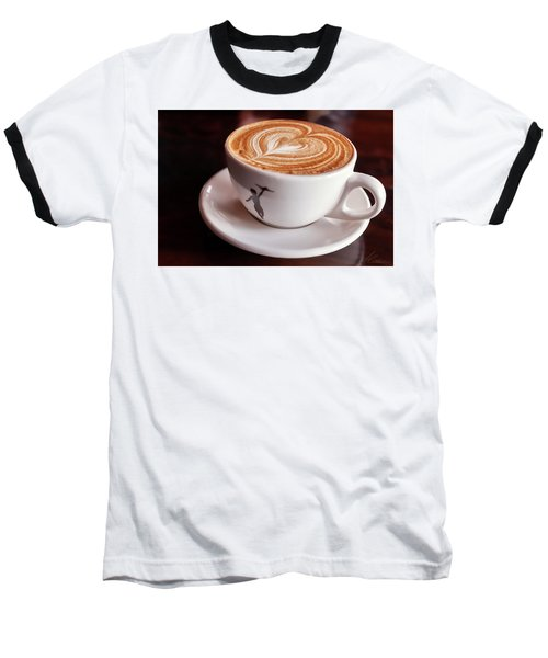 Cappuccino Baseball T-Shirt by Anthony Citro