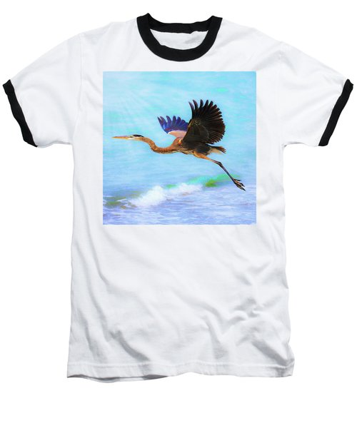 Captiva Crane In Flight Baseball T-Shirt