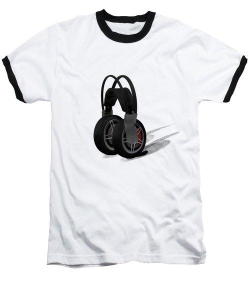 Car Stereo Baseball T-Shirt by Keshava Shukla
