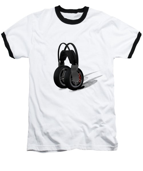 Car Stereo Baseball T-Shirt