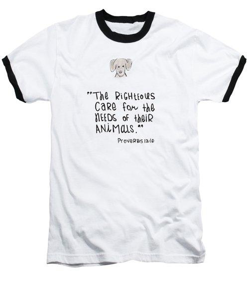 Care For Animals Baseball T-Shirt