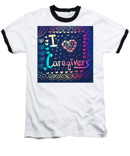 Caregiver Rainbow Baseball T-Shirt