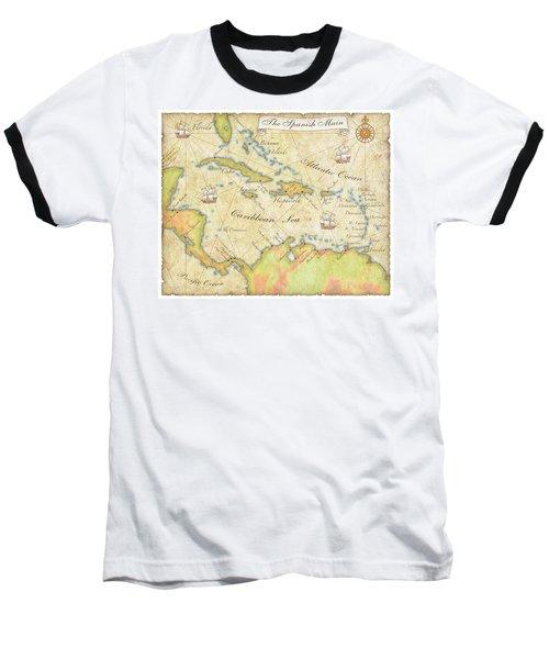 Caribbean Map - Good Baseball T-Shirt by Sample