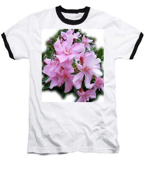 Baseball T-Shirt featuring the photograph Caribbean Oleander by Marie Hicks