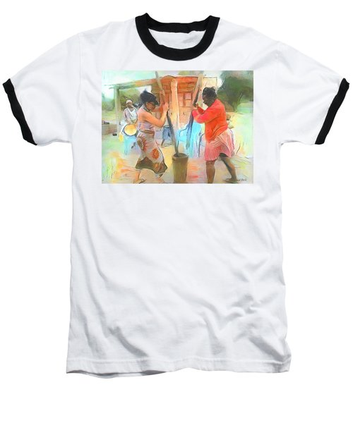 Caribbean Scenes - Mortar And Pestle In De Country Baseball T-Shirt