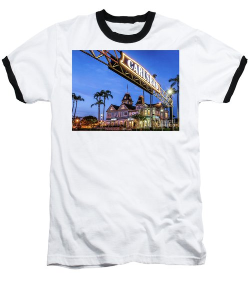 Carlsbad Welcome Sign Baseball T-Shirt