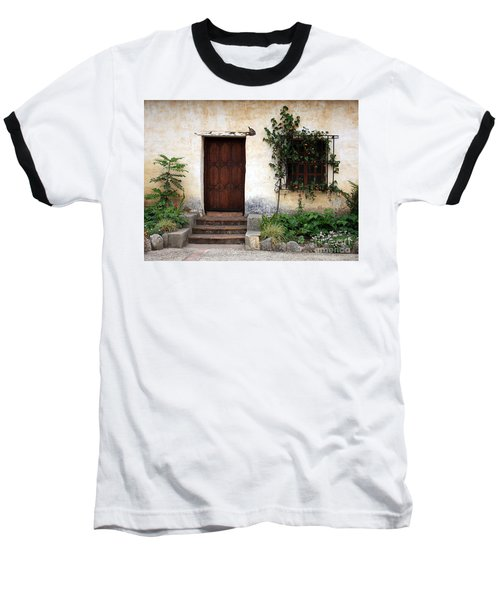 Carmel Mission Door Baseball T-Shirt