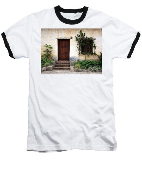 Carmel Mission Door Baseball T-Shirt