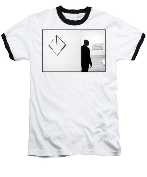 Carmen Herrera At The Whitney 1 Bw Baseball T-Shirt