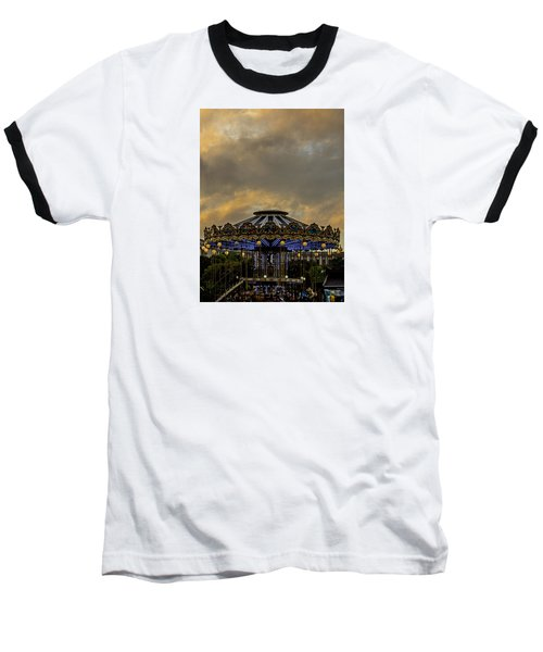 Baseball T-Shirt featuring the photograph Carousel By The Eiffel Tower by Jean Haynes