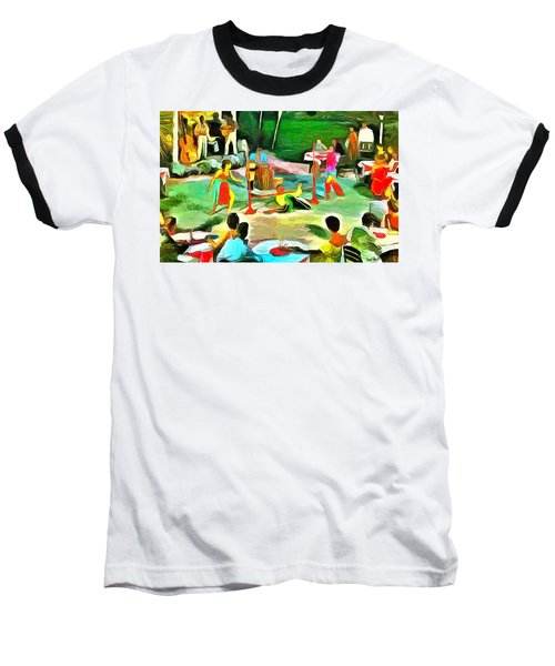 Carribean Scenes - Calypso And Limbo Baseball T-Shirt by Wayne Pascall