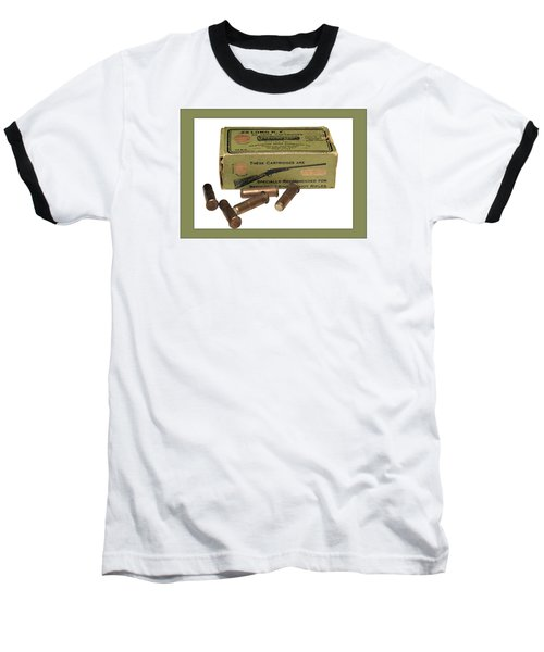 Cartridges For Rifle Baseball T-Shirt by Susan Leggett