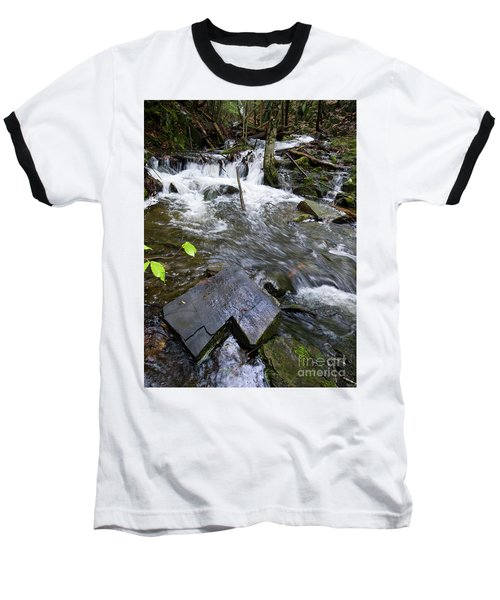 Cascade Falls Stream, Farmington, Maine  -30329 Baseball T-Shirt
