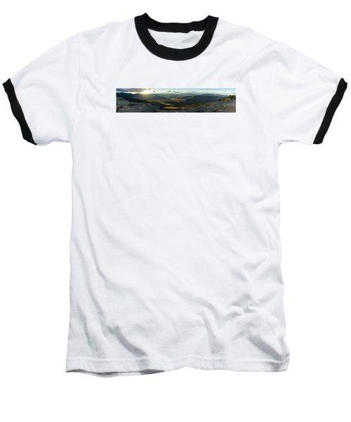 Cascade Mountain Sunset Baseball T-Shirt