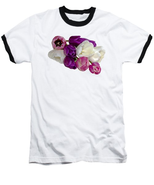 Baseball T-Shirt featuring the photograph Cascading Tulips by Phyllis Denton