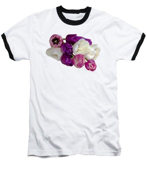 Cascading Tulips Baseball T-Shirt