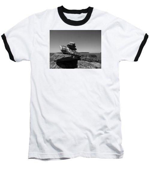 Casco Bay Cairn Bw Baseball T-Shirt