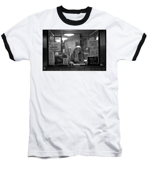 Cashier, Devon Theatre, 1979 Baseball T-Shirt