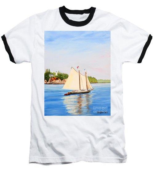 Castine Harbor And Dice Head Light Baseball T-Shirt