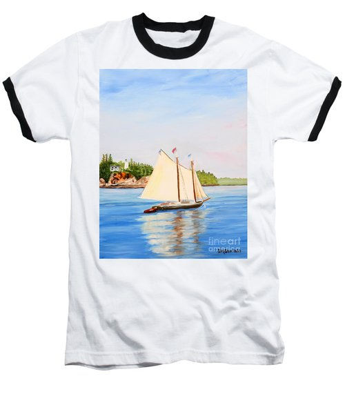 Castine Harbor And Dice Head Light Baseball T-Shirt